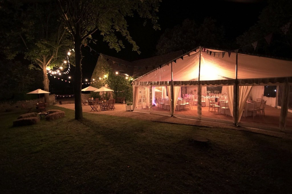 Owlpen manor marquee for wedding
