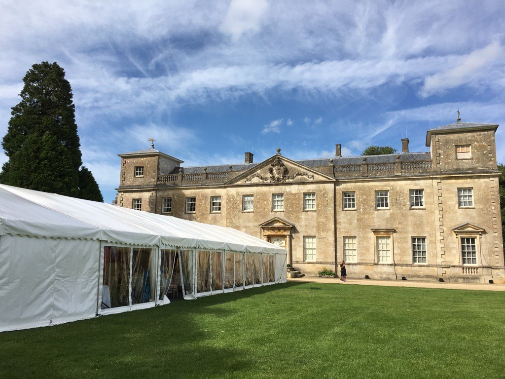 Lydiard Park with Marquee in grounds