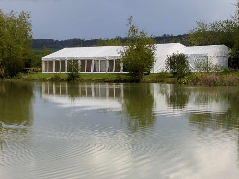 marquee for Weddings - next to lake