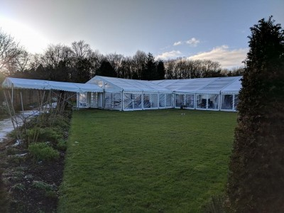 Marquee at Lydiard Park Walled Garden