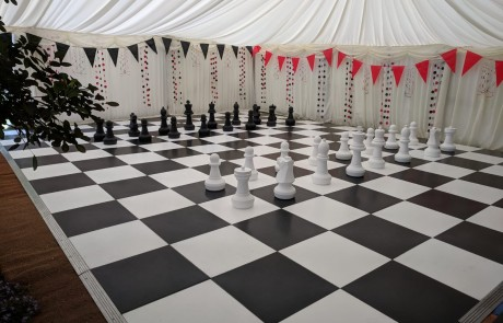 chessboard dancefloor for marquee