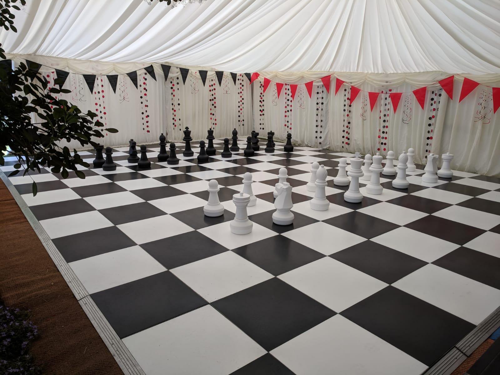 chessboard dancefloor for marquee